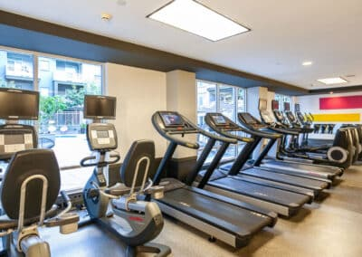 cardio machines on the fitness center